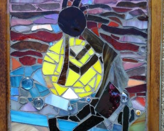 Kokopelli Stained Glass Mosaic