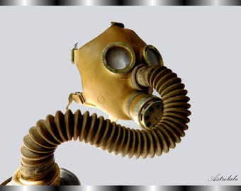 Gas mask, Rare, BDSM, rubber gas mask made in the USSR, Vintage, Masquerade, Halloween mask, Steampunk mask, BDSM mask, Soviet gas mask