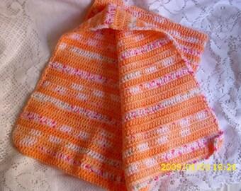 Baby blanket handmade crocheted multicolor