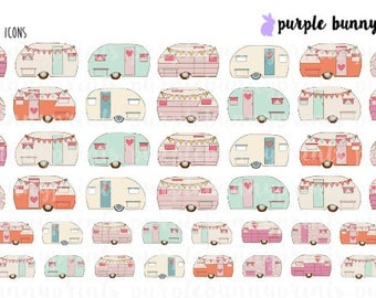 Retro Camper Icons // Planner Stickers!