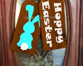 Door Tag Hanger, Wooden Door Tags with Ribbon, Front Door Decoration, Home Decor, Welcome To Our Home Tag