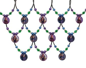 12x Descendants 2 Birthday Party  Favor Necklaces