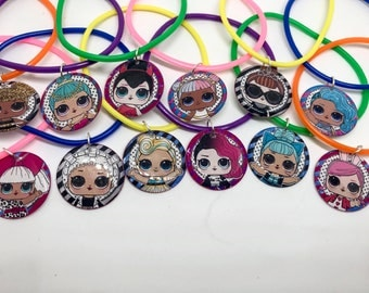 12x LOL inspired birthday party favor bracelets