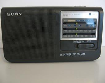 Sony 4 Band Portable Radio - Weather/AM/FM/Analog tv Bands