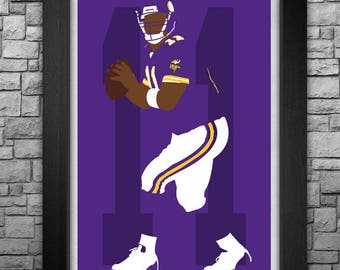 DAUNTE CULPEPPER minimalism style limited edition art print. Choose from 3 sizes!