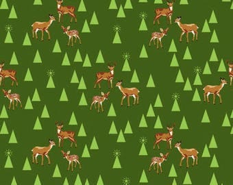 Holiday Homies BAMBI LIFE in PINE by Tula Pink