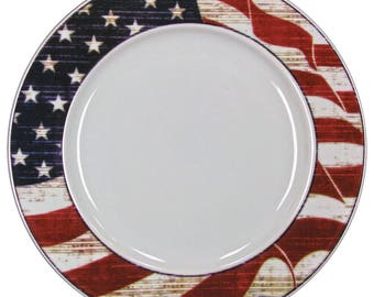 American Flag Charger / Serving Platter