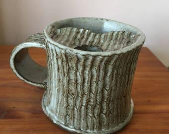 Mustache Mug for left hand use, Coffee mug