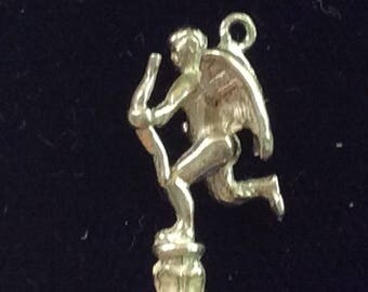 Sterling silver Cupid charm vintage # 119s