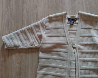Vintage Wool Uni-button Sweater