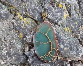 Green Agate Tree of Life