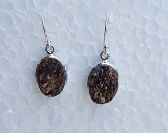 Sterling silver earrings purity 92.5% with natural druzy stone studded.