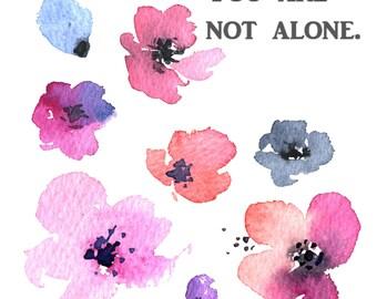 Not Alone Cross Stitch Pattern