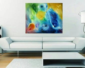 Hand painted picture space of emotions.
