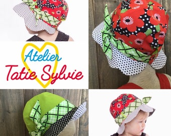 Reversible Red/Green Flower hat