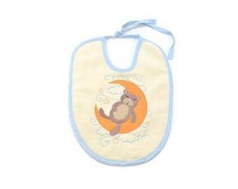 Little bear embroidery baby bib