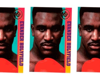 5 - 1993 Ballstreet Evander Holyfield Boxing Card Lot