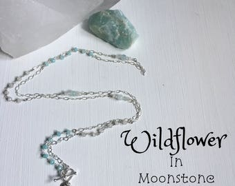 Wildflower - 5 in 1 citrine & moonstone necklace - Cusomizable