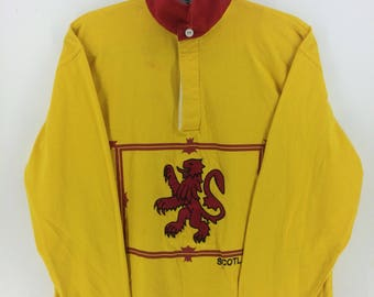 Vintage 90's Rugby Nation Classic Design Skate Sweat Shirt Sweater Varsity Jacket Size M #A877