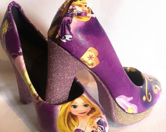 Disney Tangled / Repunzel inspired heels * * * sizes 3-8