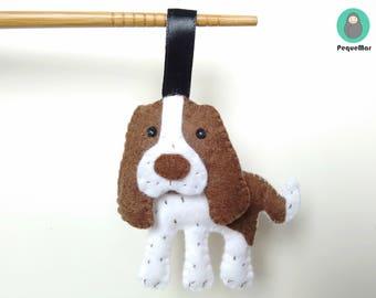 Personalised Hand sewn Springer Spaniel felt ornament / Spaniel dog felt charm / Spaniel dog felt plush / Dog Christmas ornament