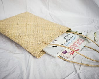 Magazine Straw Rattan Hand Woven Grass Tote - Free Shipping