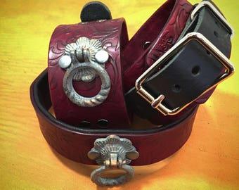 Custom cuff and collar set
