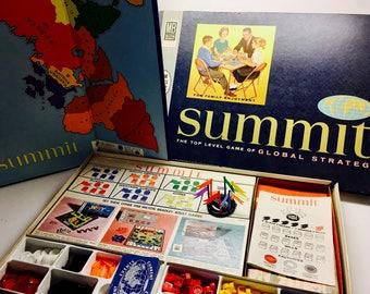 Summit Board Game, Milton Bradley, Complete Vintage Global Strategy Board Game