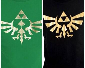 Mens & Womens Zelda Gold Hyrule Tshirt