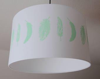 "Lamshade ""Feathers"" (Lightgreen)"