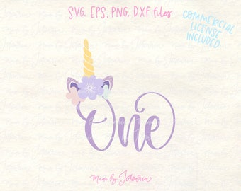 One svg, first birthday svg, 1st birthday svg, 1st svg, one year svg, unicorn svg, one unicorn svg, one year cut file, girl birthday svg