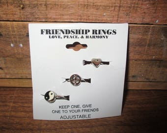 Friendship Rings Love, Peace and Harmony