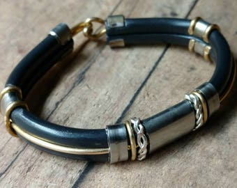 Custom Stainless Steel and Brass Bracelet
