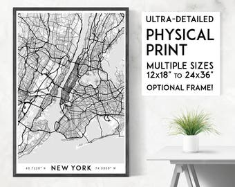 Every Road in New York City poster print | Physical New York City map print, New York print, New York art, New York wall art, NYC poster