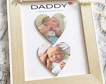 Dad frame - gift for dad - daddy frame - gift for Fathers Day - personalised Father's Day gift - first fathers Day gift- thoughtful dad gift