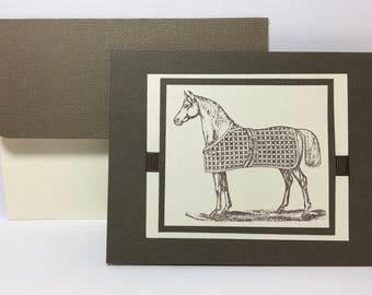 Horse Greeting Card, Equestrian Card, Horse Lover, Horse Gift, Horse Card