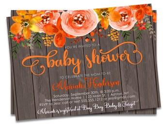 Fall Baby Shower Invitation Printable, Fall Baby Shower Invites, Autumn Baby Shower Invite, Fall Invitation, Autumn Invite