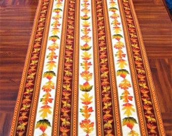 Thanksgiving Table Runner, Fall Table Runner, Autumn, Tablecloth, 68 X 23