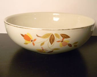 Hall's Superior Jewel Tea Autumn Leaf Vintage Serving Bowl
