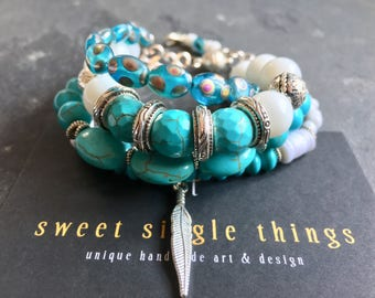 Bracelet, bracelet, bracelet, pearl bracelet, hippie, Boho, Bohemian, Gypsy, Easter, turquoise, gift, Ibiza