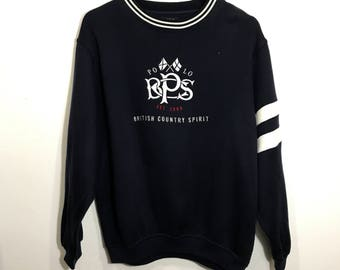 Vintage Polo British Country Spirit Sweatshirt  Jumper Big Logo Hip Hop Swag