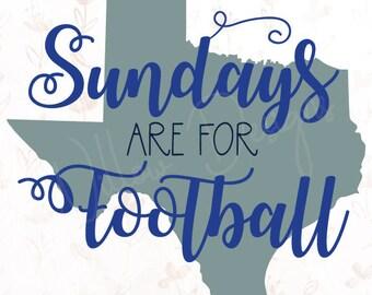 Dallas Cowboys Sundays are for Football .SVG File for Cricut, Silhouette Studio & more!