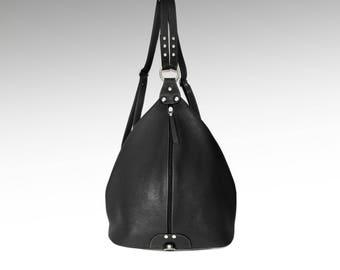 Leather backpack purse minimalist black leather rucksack Leather Shoulder Bag college knapsack leather cow backpack leather bag