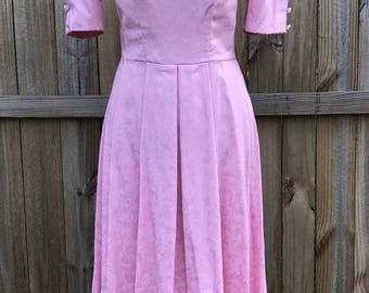 Vintage Laura Ashley Pink Dress, Vintage Laura Ashley Dress, 1980's Vintage Laura Ashley, Pink Laura Ashley Dress, Vintage Prom Dress