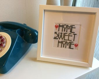 Home sweet home cross stitch