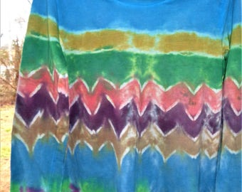 Tie dyed tie dye long sleeve t-shirt