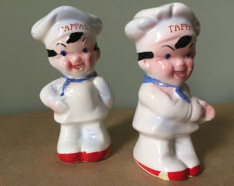 1950s Tappan Salt and Pepper Shakers  Tappan Chefs