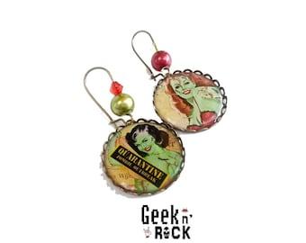 SALE 50% Zombies Freakshow earrings