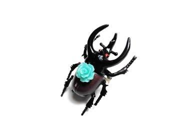 SALE 50% ring bestiary curiosity - beetle