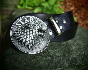 stark belt, stark leather belt, winter is coming, game of thrones